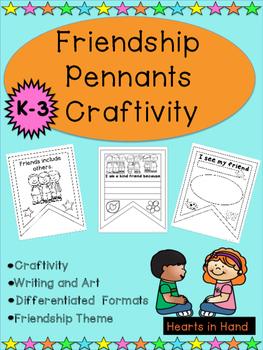 Friendship Pennants Craftivity K-3