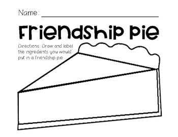 Friendship Pie for Kindergarten