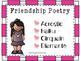 Friendship Poetry Pack: Acrostic, Cinquain, Diamante, and