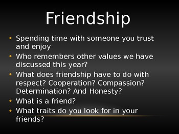 Friendship Power point Lesson-Great for Guidance!