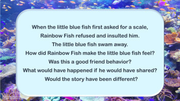 """Friendship PowerPoint Lesson w- link to """"Rainbow Fish"""" video PBIS Choices"""