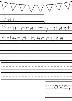 Friendship Primary Letter Template