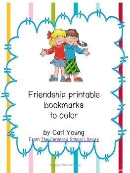 picture regarding Bookmarks Printable named Friendship Printable Bookmarks toward Colour