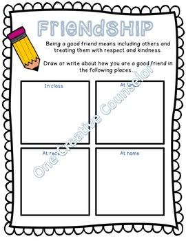 Friendship Printable Worksheet