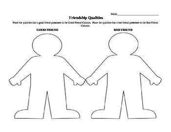 Friendship Qualities (Cut and Paste)