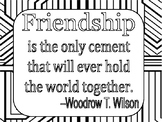Friendship Quote Coloring Page