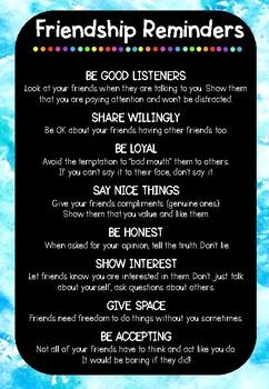 Friendship Reminder Poster