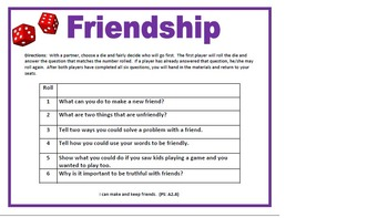 Friendship Roll-A-Die 1 and 2