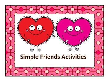 Friendship--Simple Activities   For Social Skills