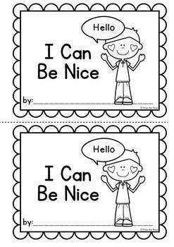 Friendship Skills Printable Reader - I Can Be Nice