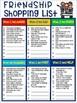 Friendship Character Traits Shopping List