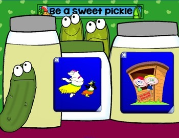 Friendship Skills:  Sweet and Sour Pickle Game SMARTboard