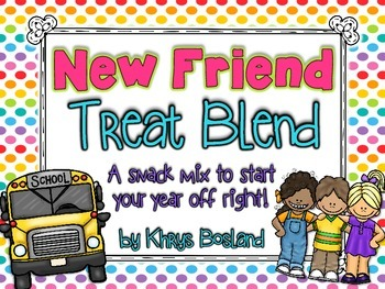 Friendship Snack Mix -  New Friend Treat Blend {Fun Poem} and {Bag Toppers}