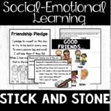 "Friendship – Social Skills – ""Stick and Stone"" Companion - Making Friends"