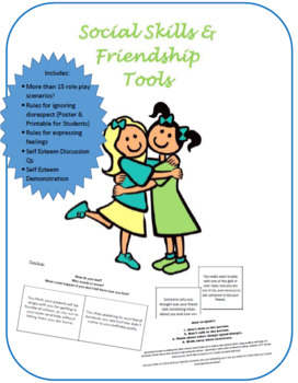Friendship & Social Skills Tools: shy dealing with conflict expressing feelings