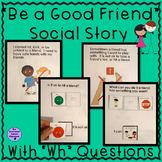 Friendship Social Story Adapted Book for Autism and Specia