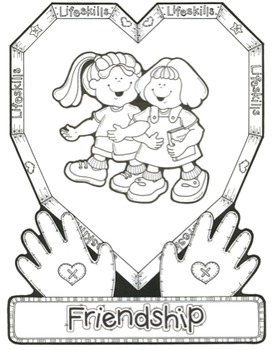 Friendship Song - MP3, Lyrics, & Coloring Page