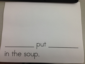 Friendship Soup - A Thanksving feast and class book-making activity