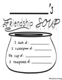 Friendship Soup Worksheet