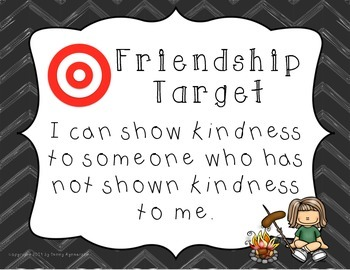 Friendship Target Posters! CAMPING Theme!