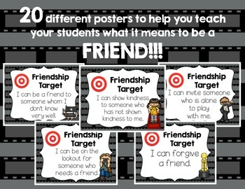 Friendship Target Posters! HOLLYWOOD Theme! Great for Back-to-School!!!