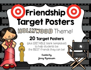 Friendship Target Posters! HOLLYWOOD Theme! Great for Back