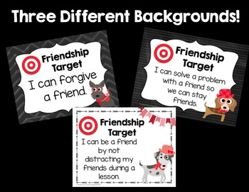 Friendship Target Posters! Help students be the BEST friends they can be!
