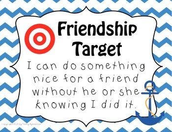 Friendship Target Posters! NAUTICAL Theme! Great for Back-to-School!!!