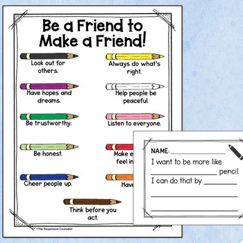 """Friendship Task Cards Companion to """"Making Friends Is an Art"""""""