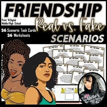 Friendship Task Cards and Worksheets BUNDLE (77 pages)