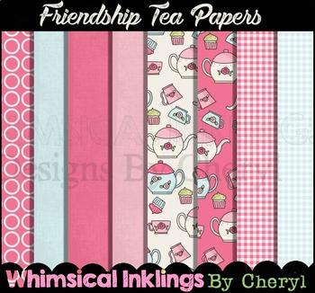 Friendship Tea 12x12 Digital Paper Collection