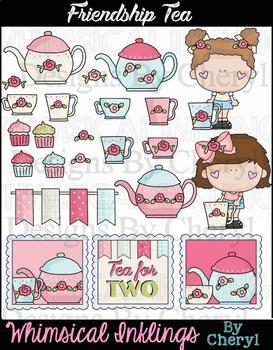 Friendship Tea~Tea Party Clipart Collection
