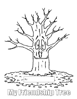 Friendship Tree - Black and White