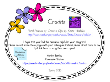 Friendship Triangle Conversation Cards for School Counseling