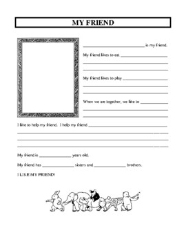 Friendship Unit, Character Education Activities and Worksheets