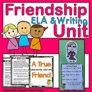 Friendship Unit with Opinion Writing and Poetry