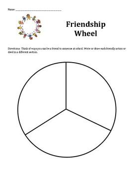 Friendship Wheel: Ways To Be A Good Friend