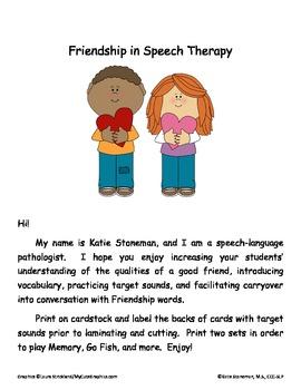 Friendship Words in Speech