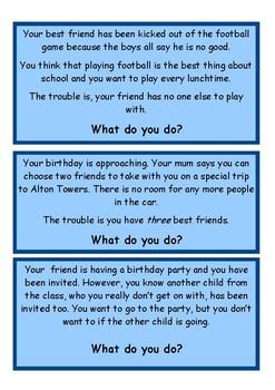 Friendship dilemmas