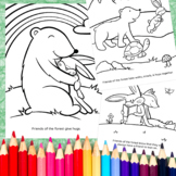 Friendship in the Forest Coloring Pages