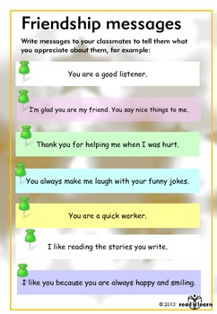 Friendship messages . . . poster