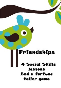Friendships- 4 Days of Lessons to get your groups/ lunch bunch ready