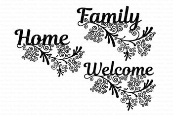 Friezes, Home, Family, Welcome SVG files for Silhouette Cameo and Cricut