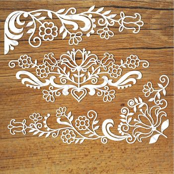 Friezes floral SVG files for Silhouette Cameo and Cricut.