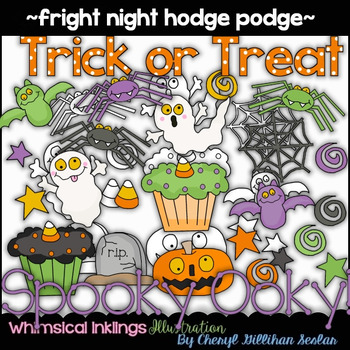 Fright Night Hodge Podge Clipart