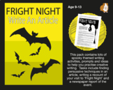 Fright Night: Write An Article And More Halloween Themed Creative Writing Ideas