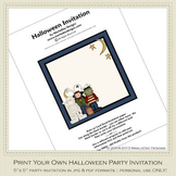 Fright Nite Printable Halloween Party Invitation 1