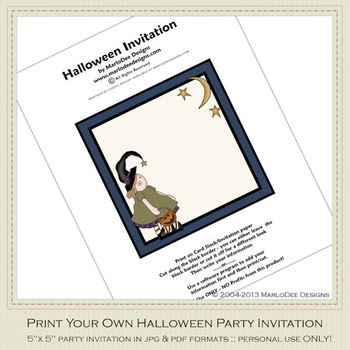 Fright Nite Printable Halloween Party Invitation 2