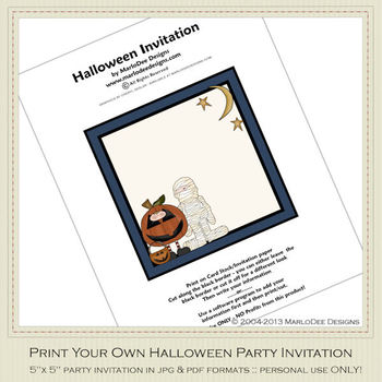 Fright Nite Printable Halloween Party Invitation 3
