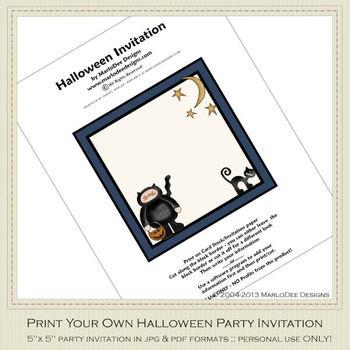 Fright Nite Printable Halloween Party Invitation 4
